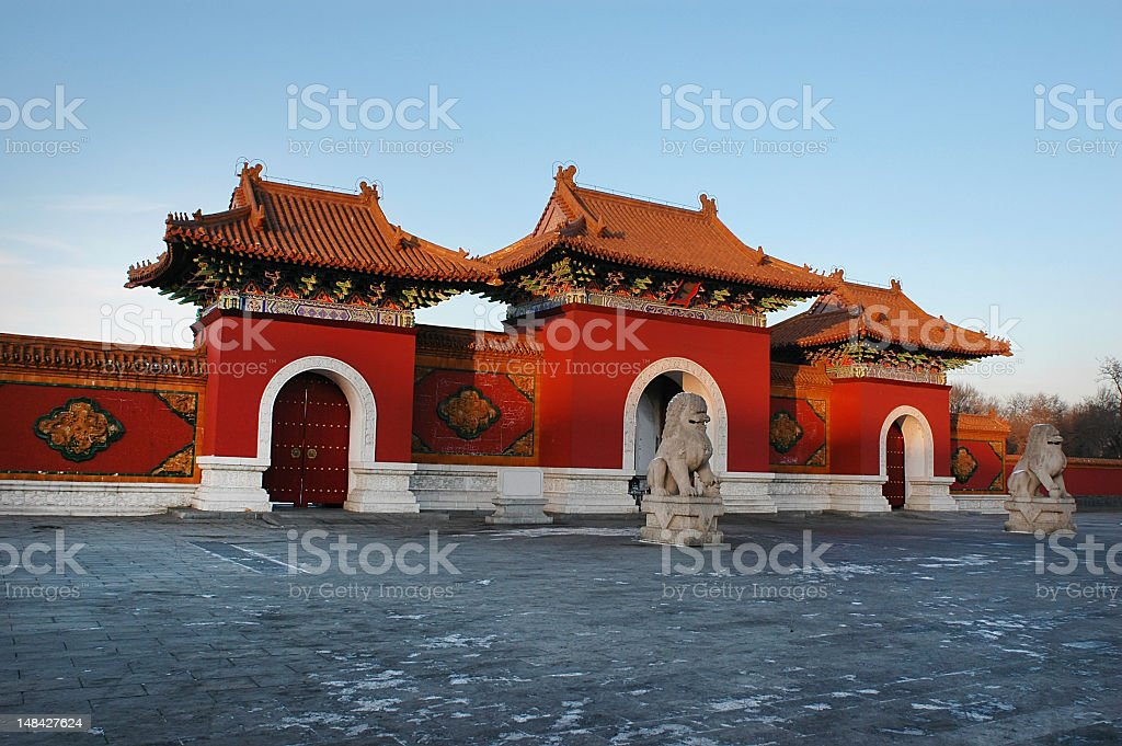 Chinese traditional building stock photo