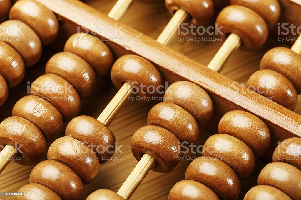 Chinese traditional calculator, abacus royalty-free stock photo
