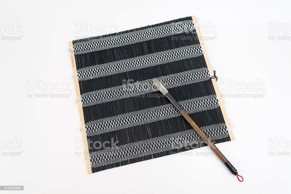 Chinese traditional calligraphy utensil stock photo