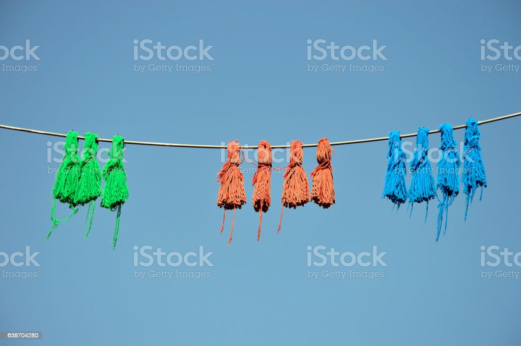 Chinese traditional decorative knots stock photo