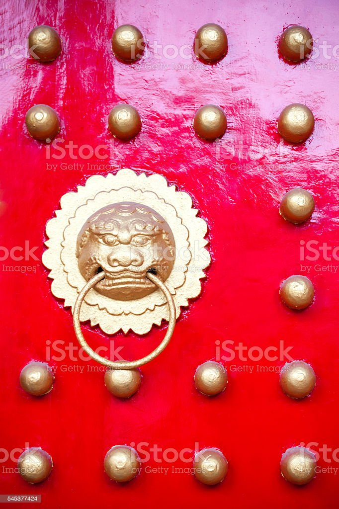 Chinese traditional door stock photo
