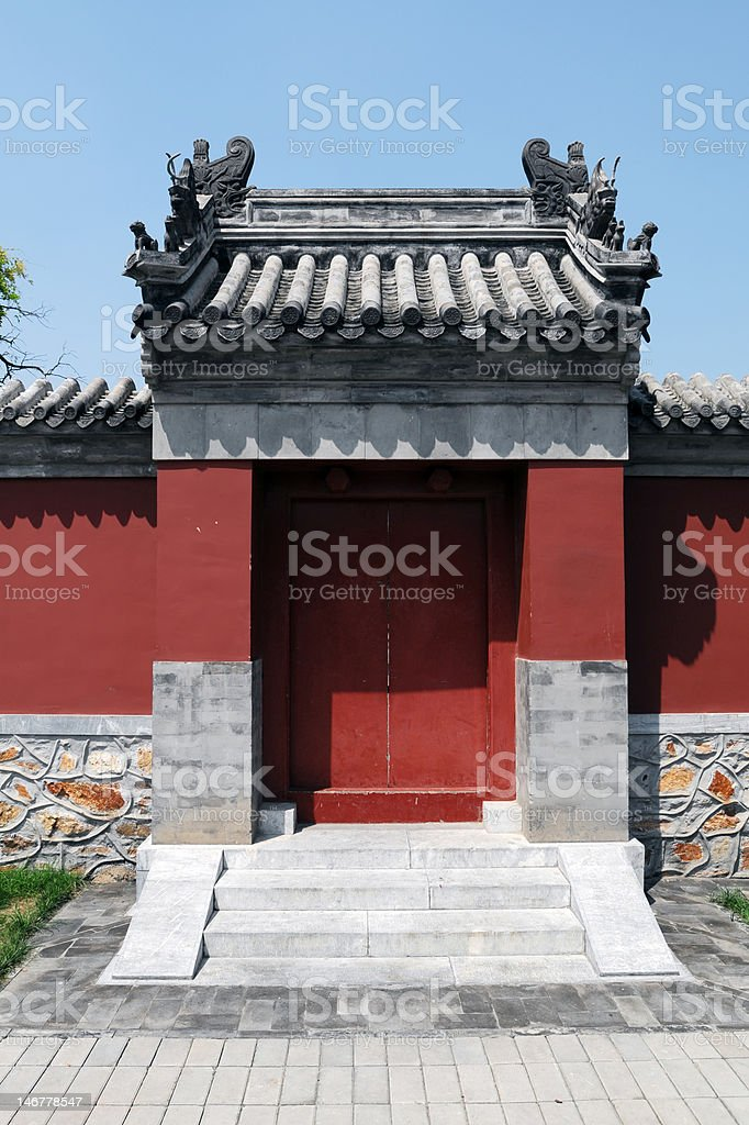 Chinese Traditional House stock photo