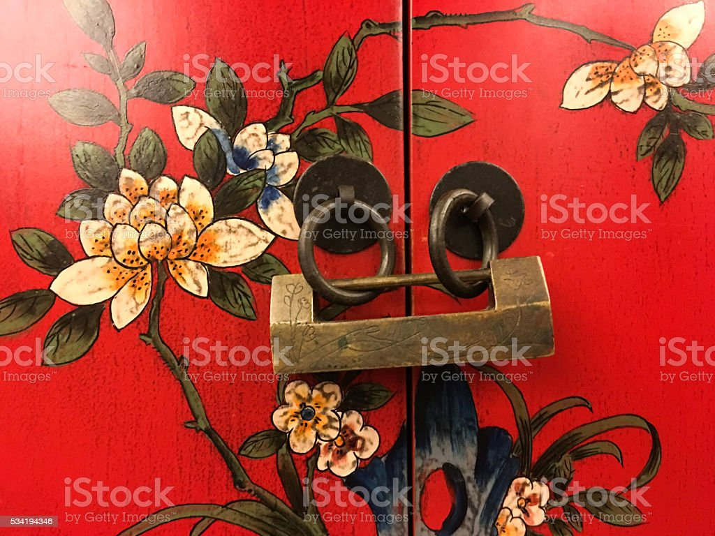 Chinese traditional lock stock photo