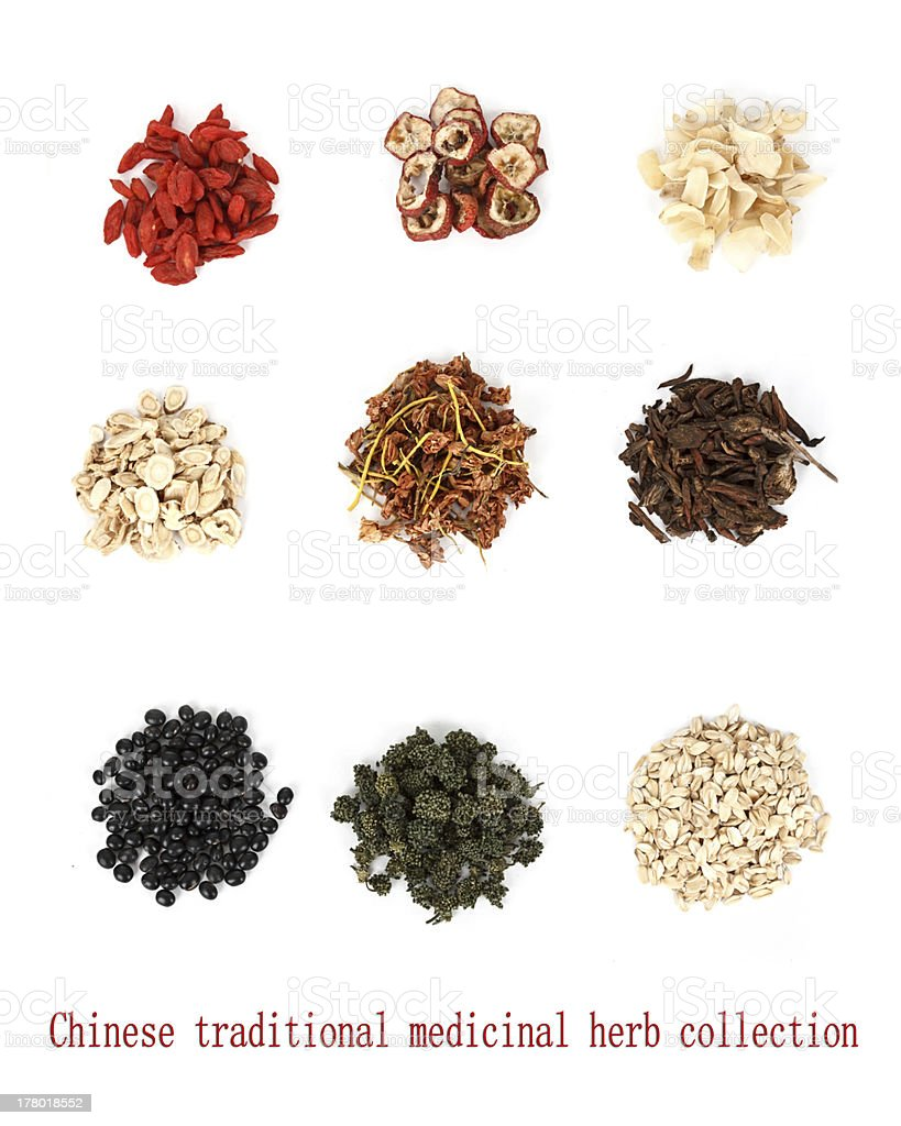 Chinese traditional medicinal herb collection, stock photo