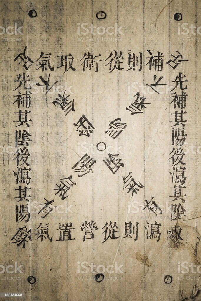 Chinese traditional medicine ancient book stock photo