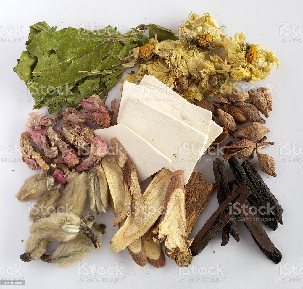 Chinese traditional medicine stock photo