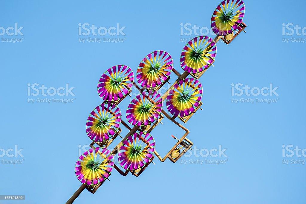 Chinese traditional pinwheel royalty-free stock photo