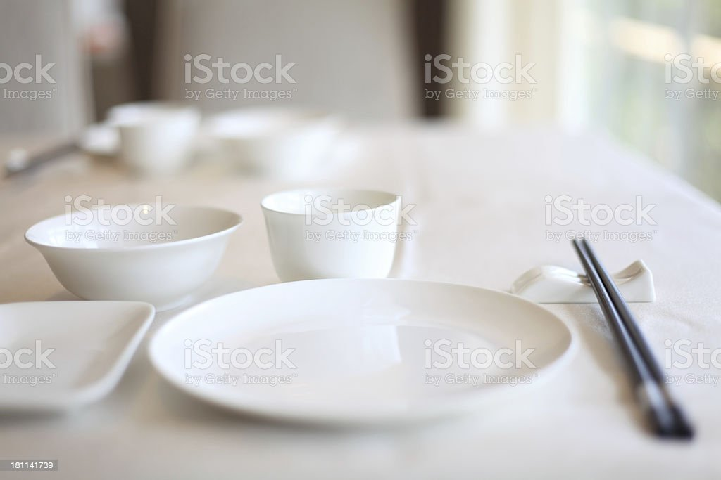 Chinese Traditional Table Setting royalty-free stock photo