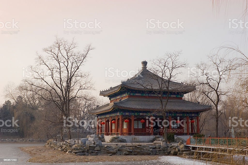 Chinese traditional temple stock photo