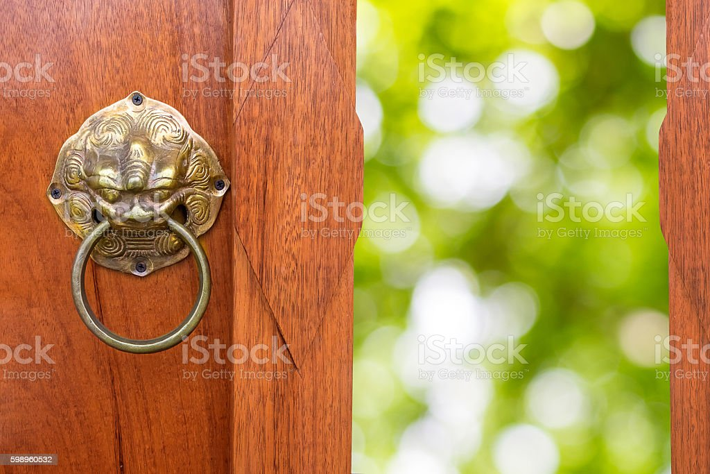 Chinese Traditional Wooden Door stock photo