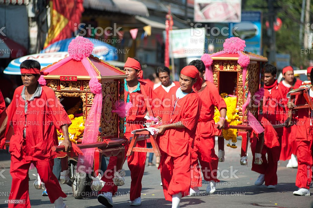 Chinese traditions and Customs parades. royalty-free stock photo