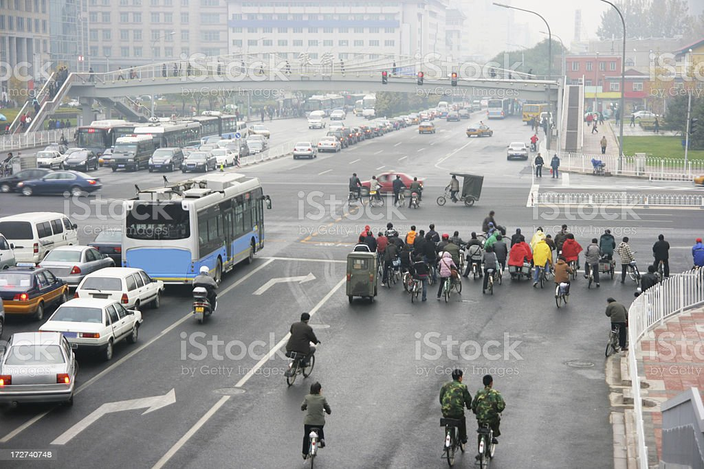Chinese Traffic royalty-free stock photo