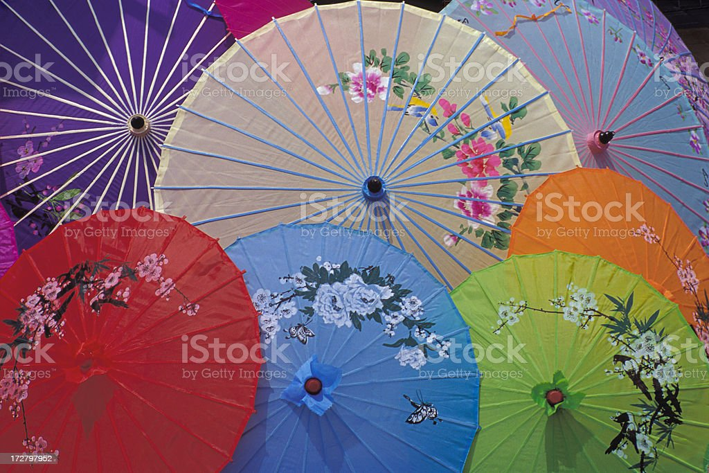 Chinese Umbrellas royalty-free stock photo
