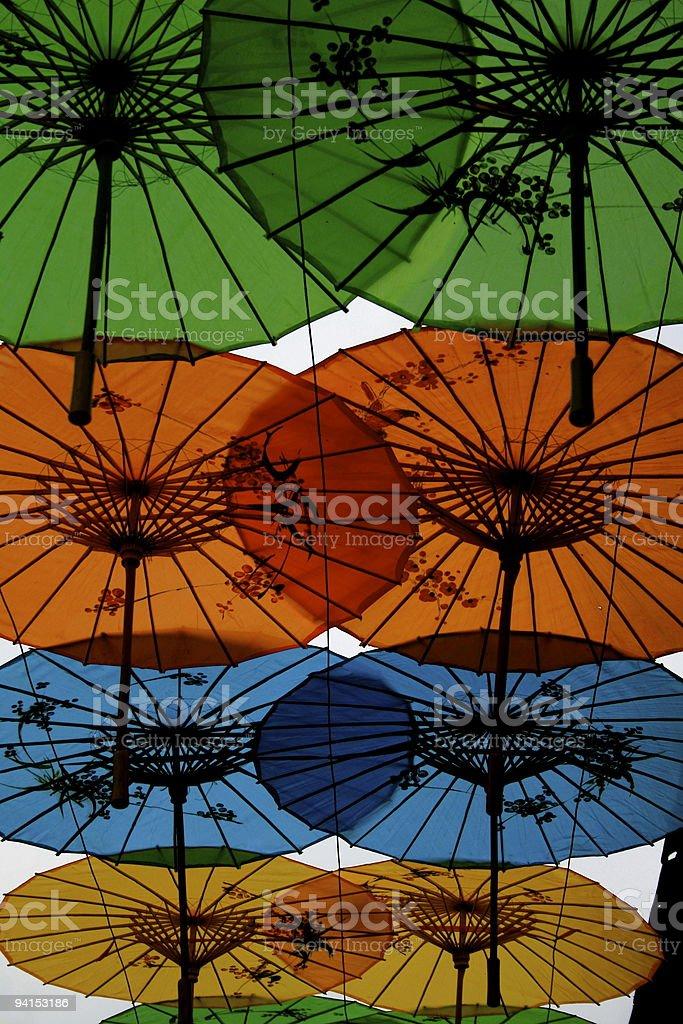 Chinese umbrellas royalty-free stock photo