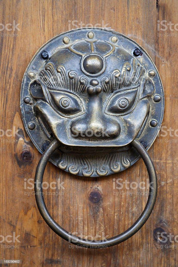 Chinese unicorn door knob royalty-free stock photo