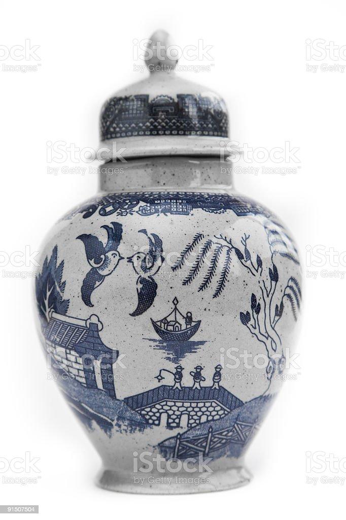 Chinese vase royalty-free stock photo