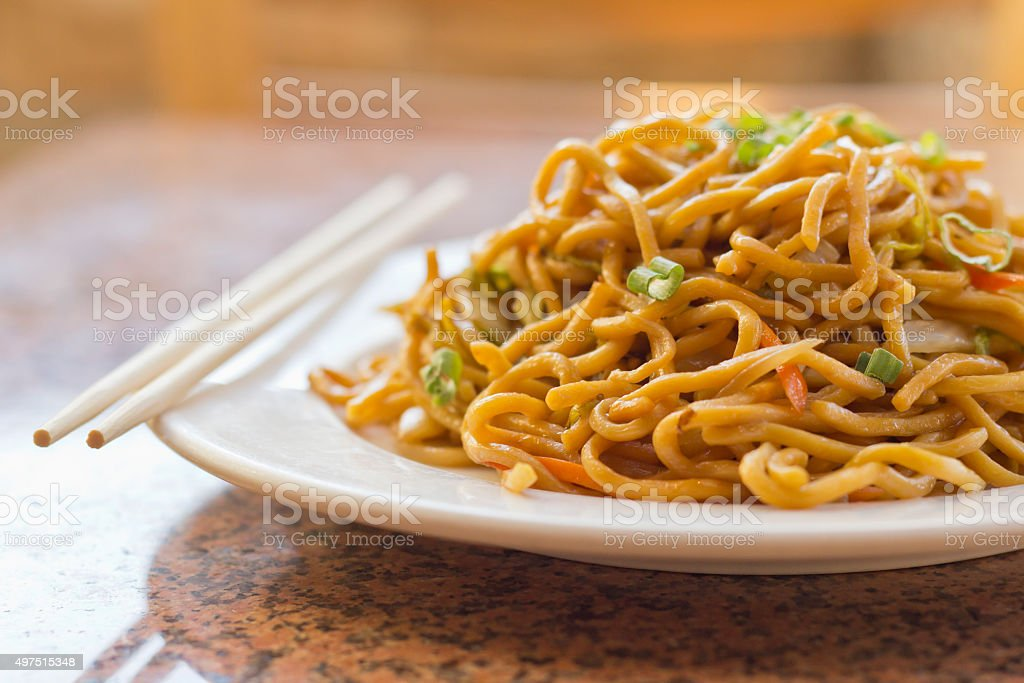 Chinese Vegetable Lo Mein stock photo