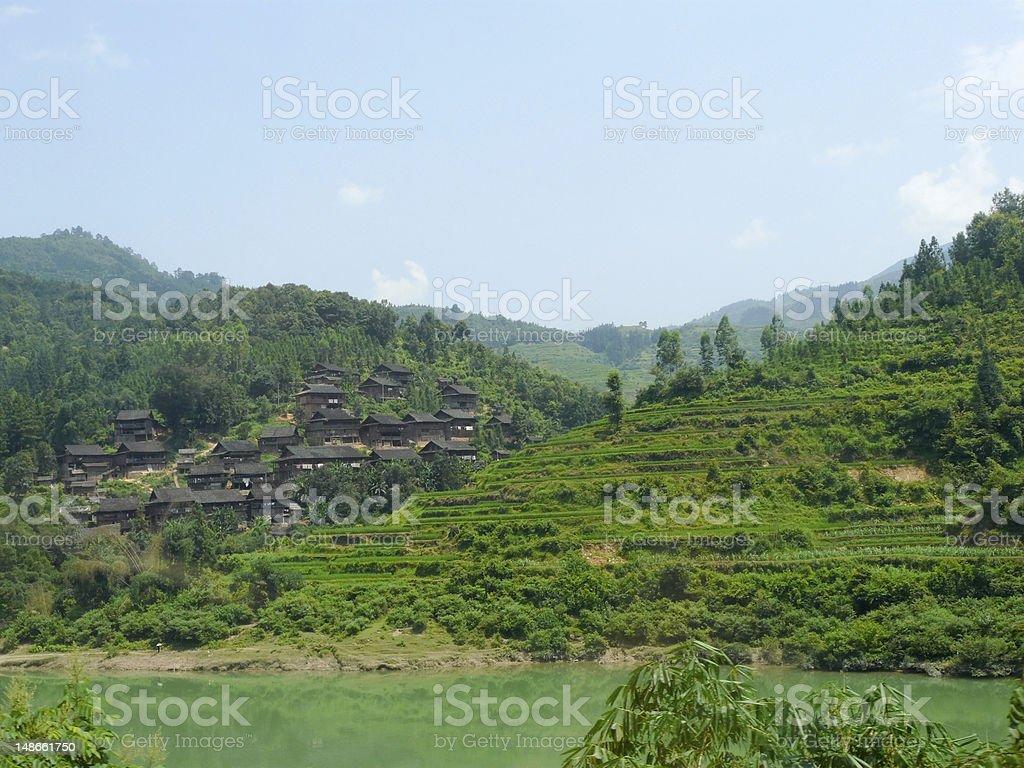 chinese village royalty-free stock photo