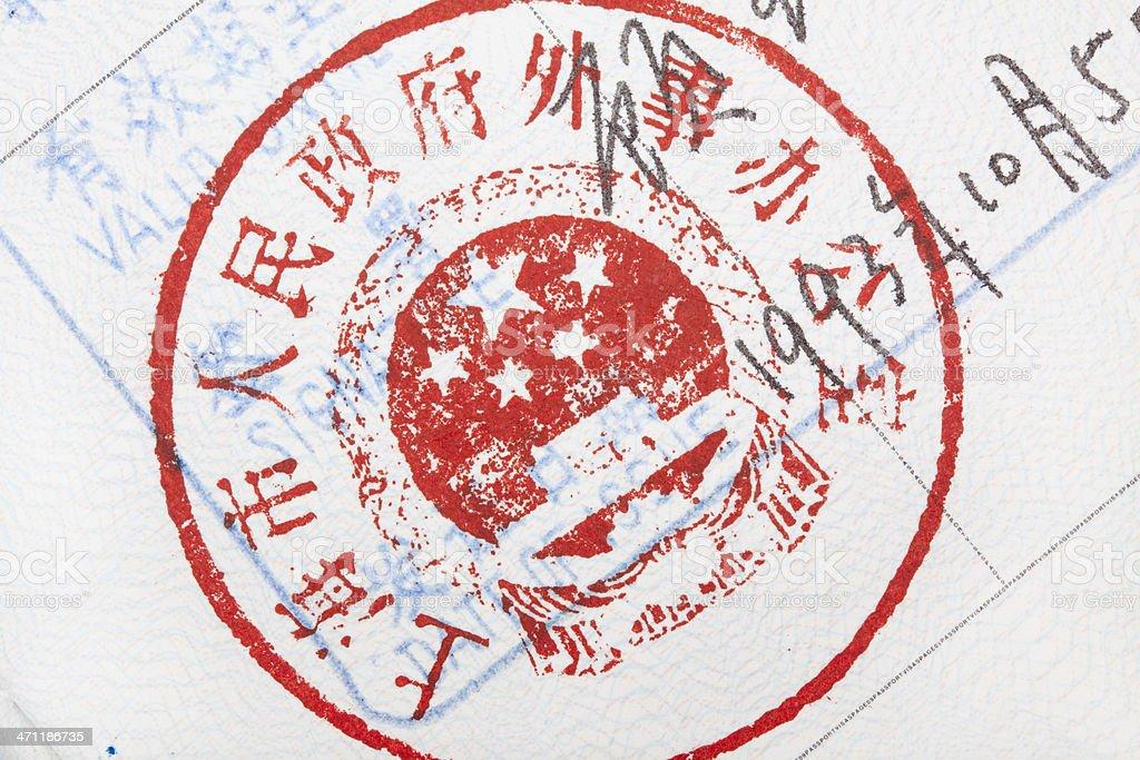 Chinese visa background stock photo
