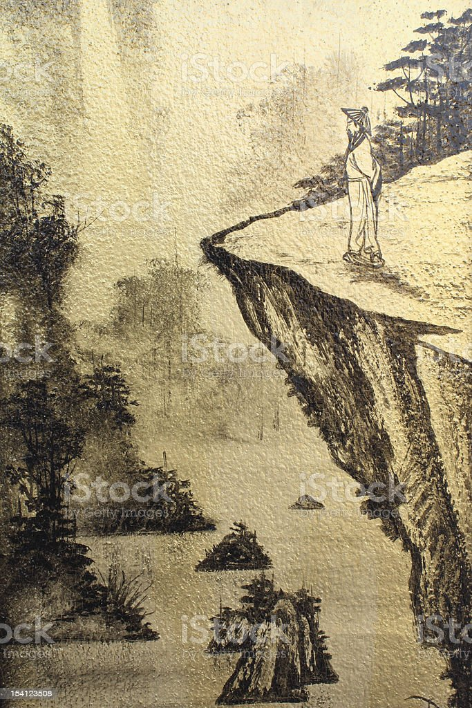 Chinese Wall Painting stock photo