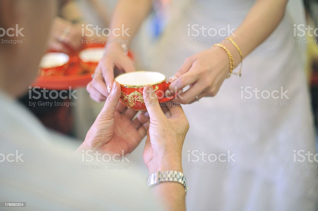 Chinese wedding tea ceremony royalty-free stock photo