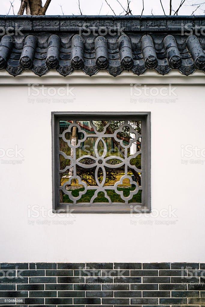 Chinese Window stock photo