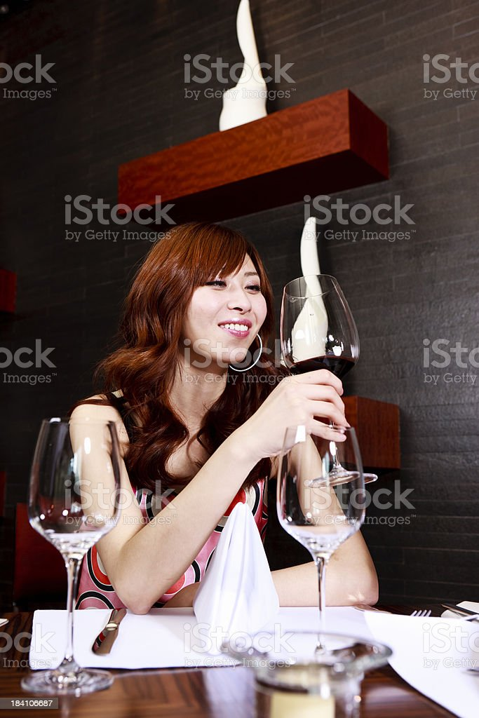 Chinese wine drinkers royalty-free stock photo