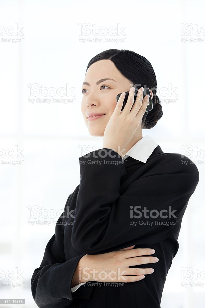 Chinese Woman on the phone royalty-free stock photo
