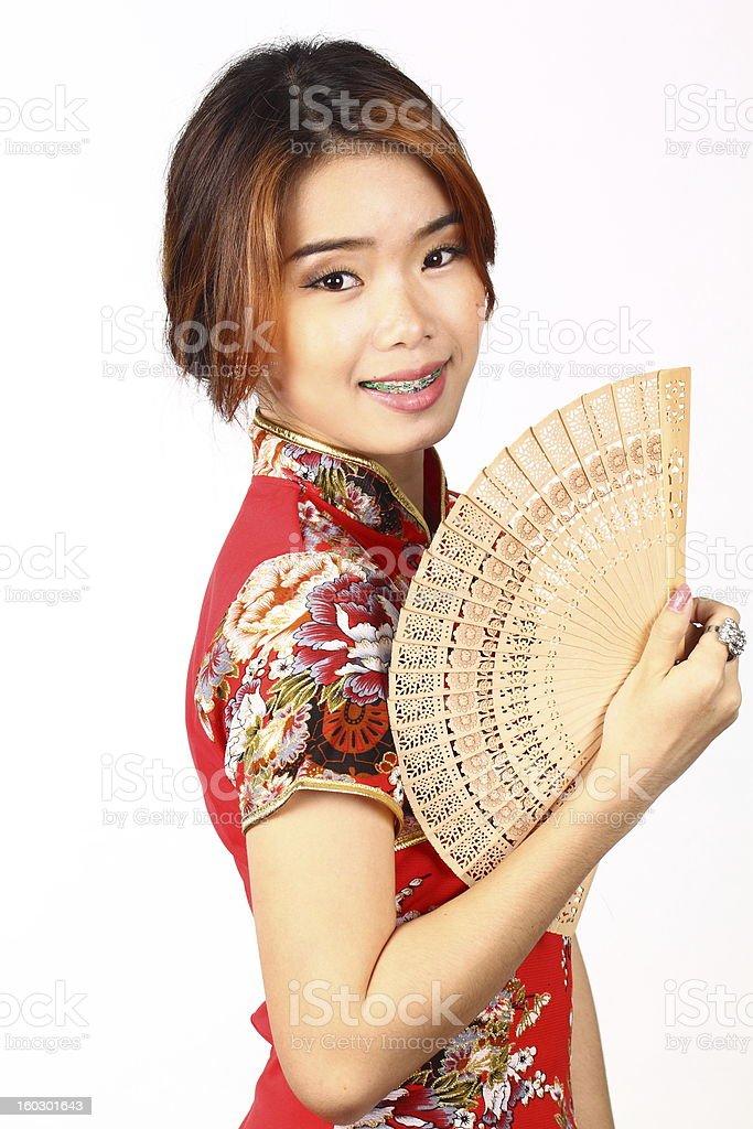 Chinese woman stock photo