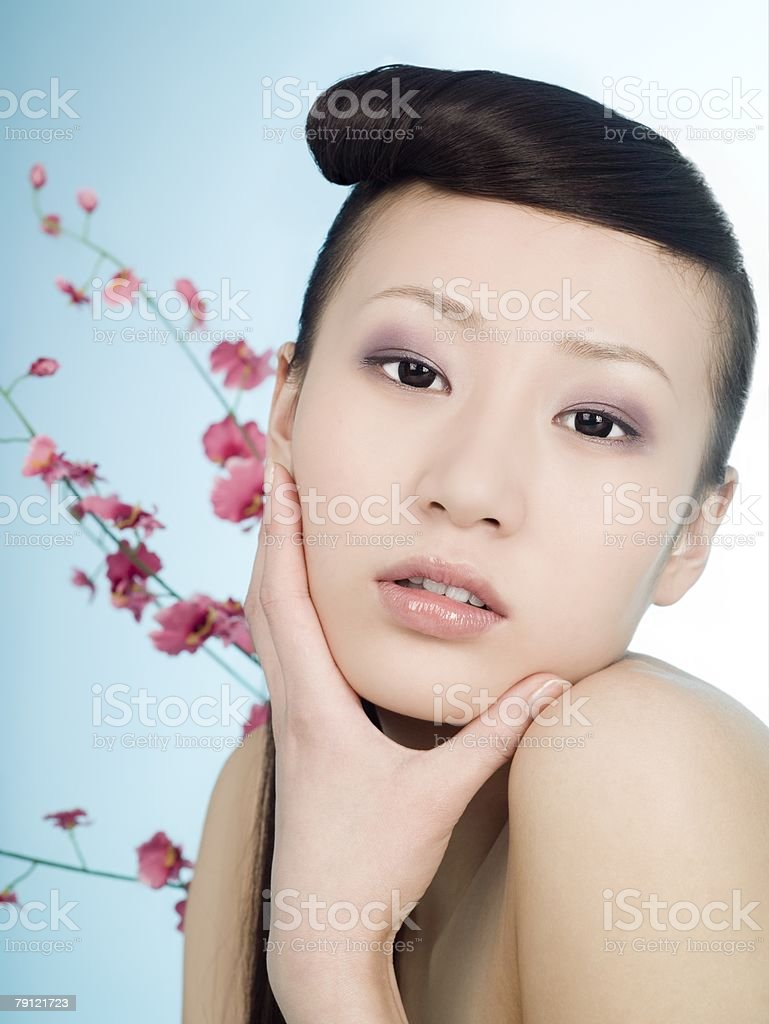 Chinese woman with a quiff royalty-free stock photo