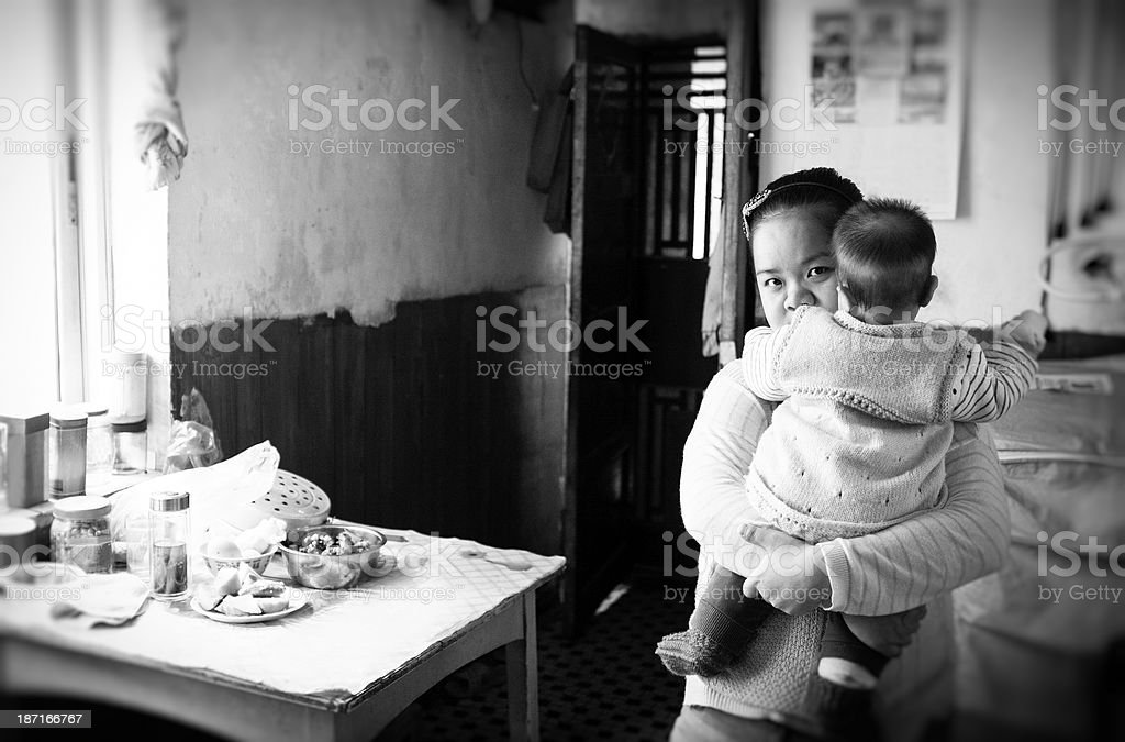 Chinese women and baby royalty-free stock photo