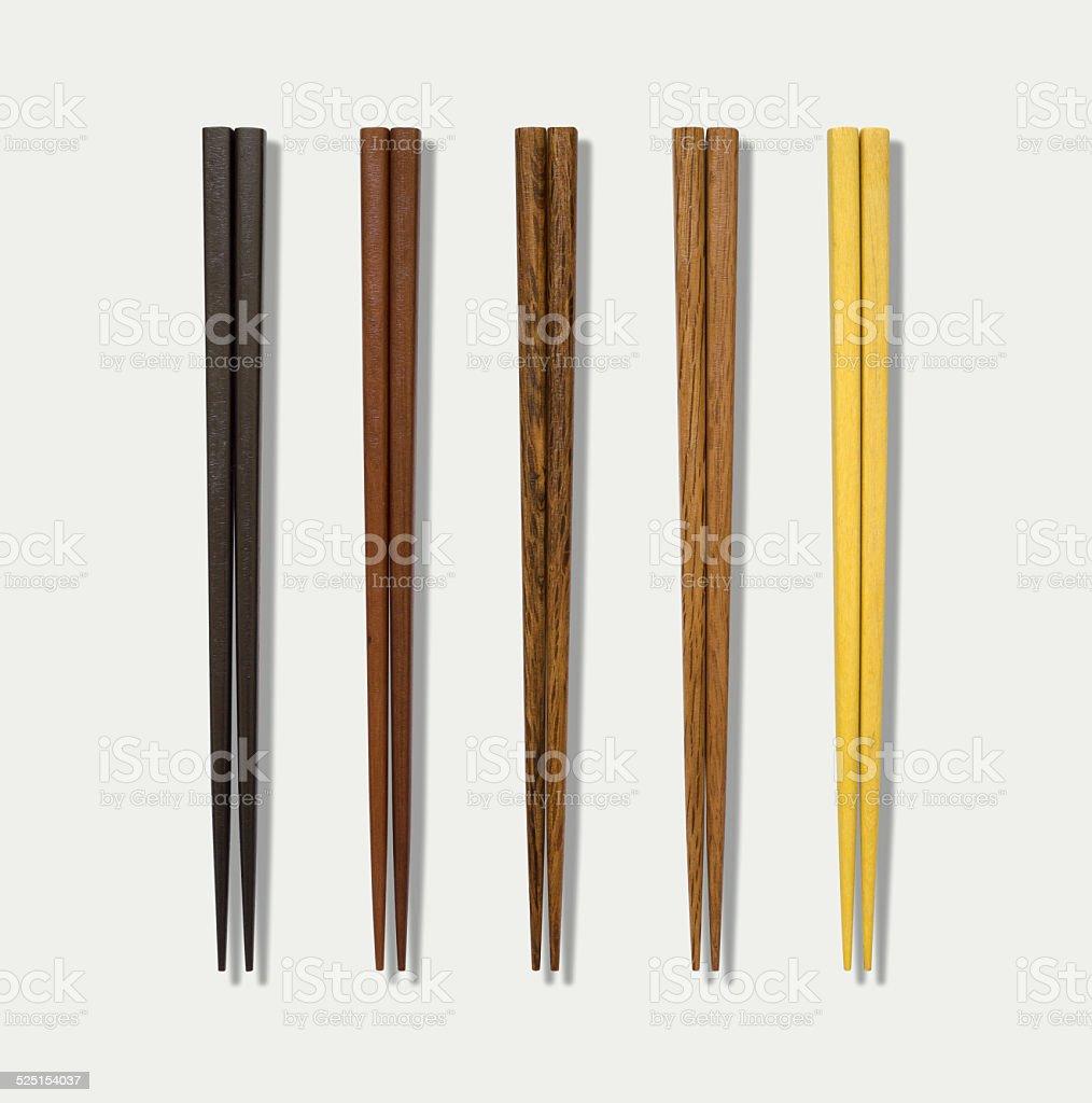 Chinese wooden chopsticks stock photo