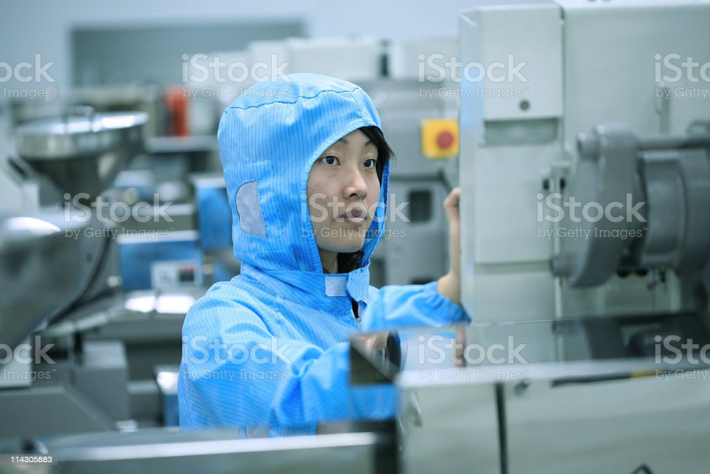 Chinese worker royalty-free stock photo