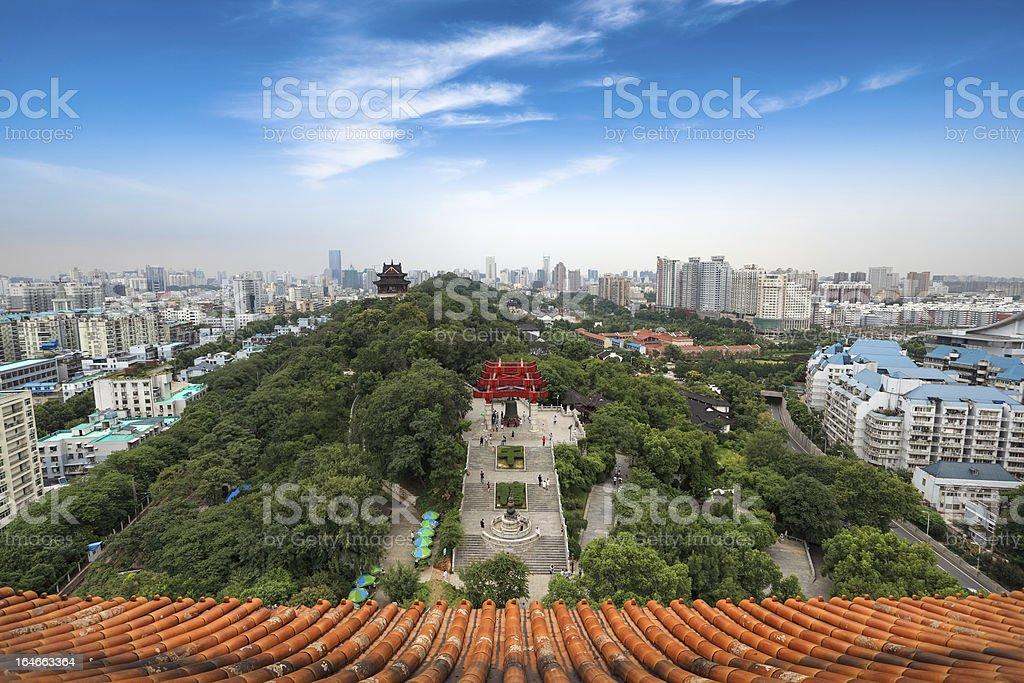 chinese wuhan panorama stock photo