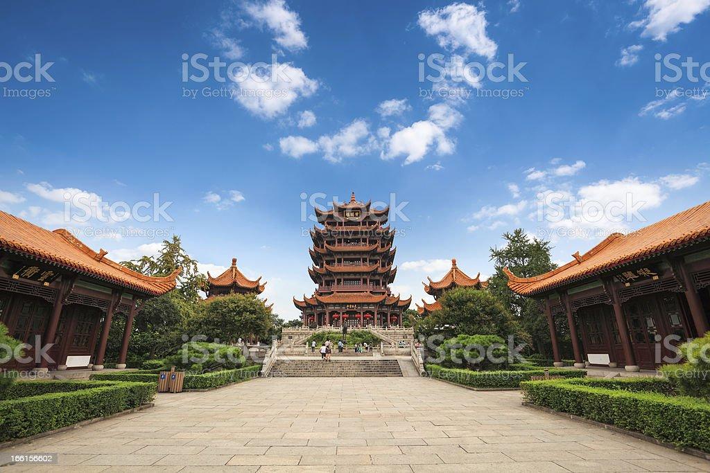 chinese wuhan yellow crane tower stock photo