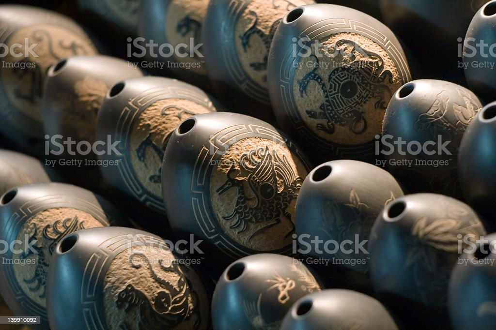 Chinese Xun – Tibets ocarina stock photo