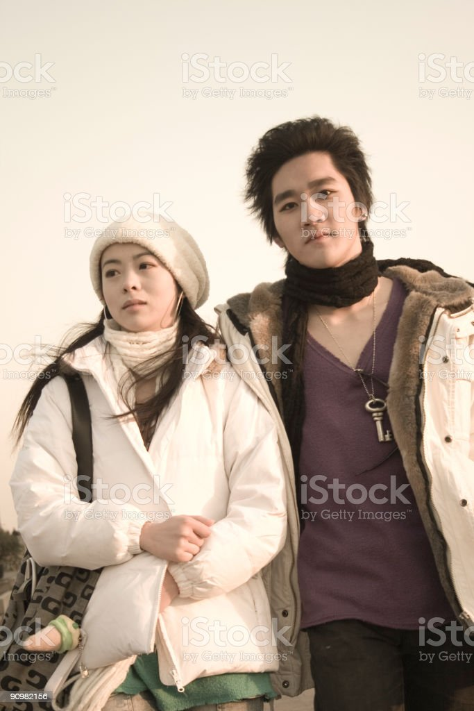 Chinese young couple royalty-free stock photo