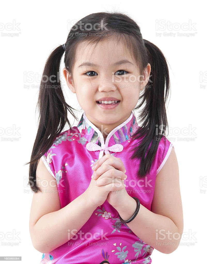Chinese young girl royalty-free stock photo