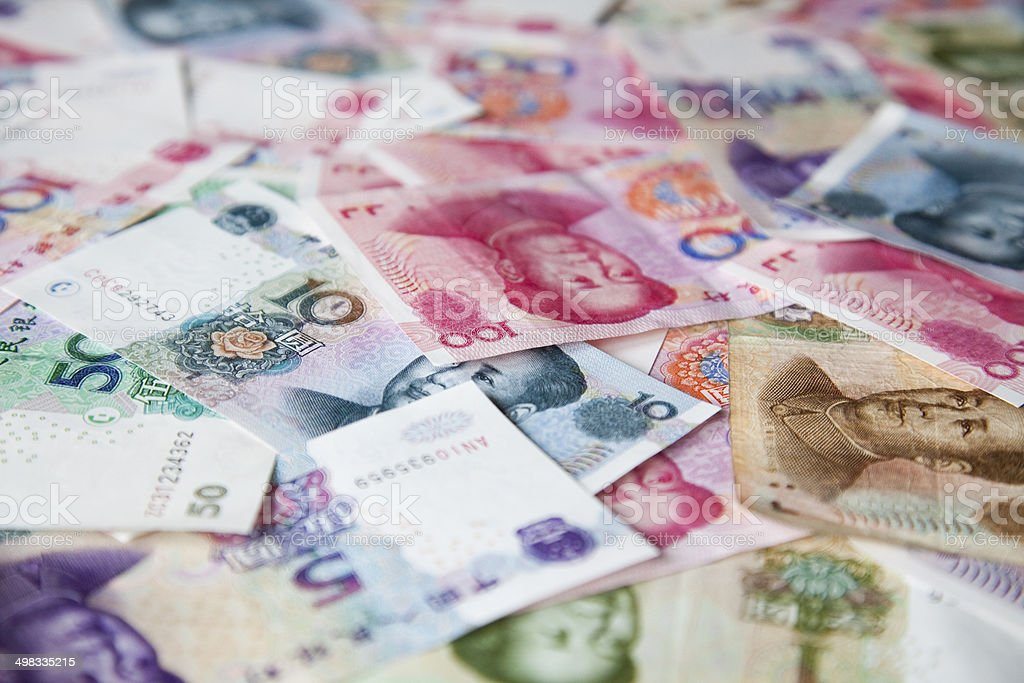 Chinese Yuan Background royalty-free stock photo
