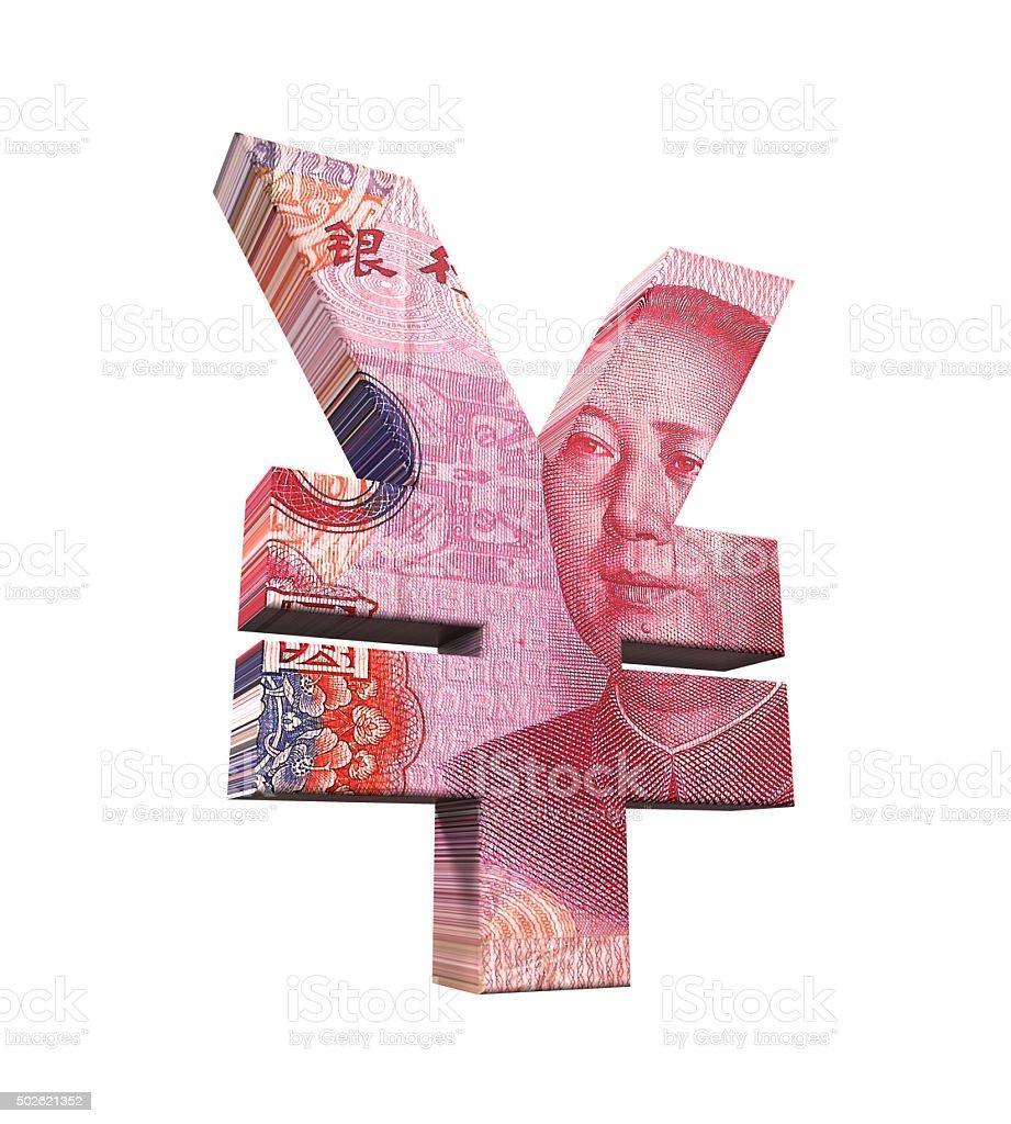 Chinese Yuan Symbol stock photo
