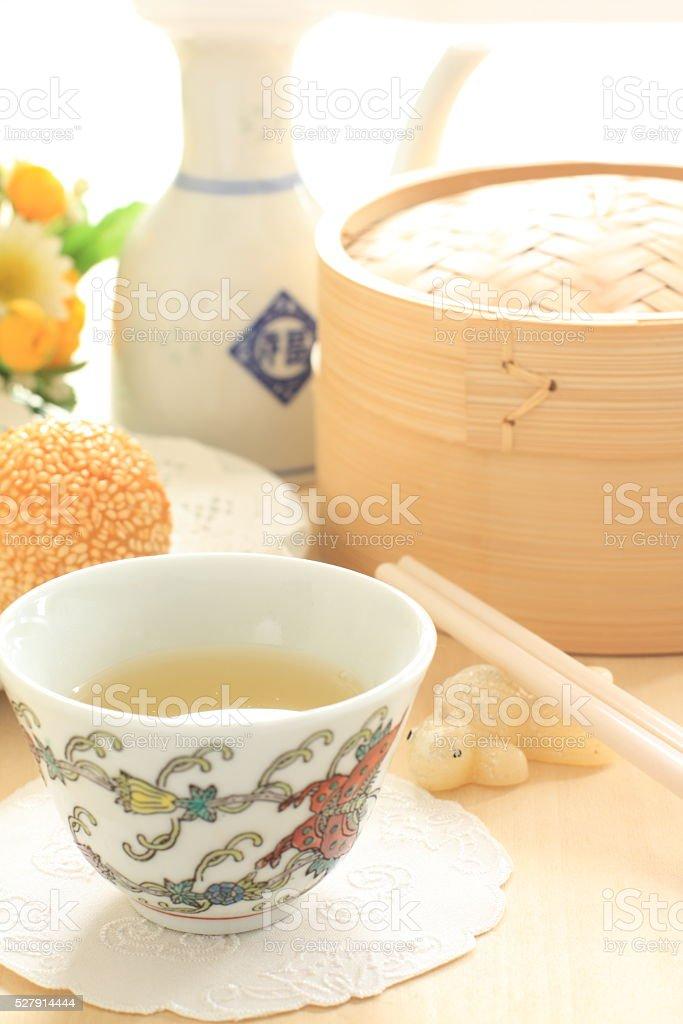 Chinese yum cha, Jasmine tea stock photo