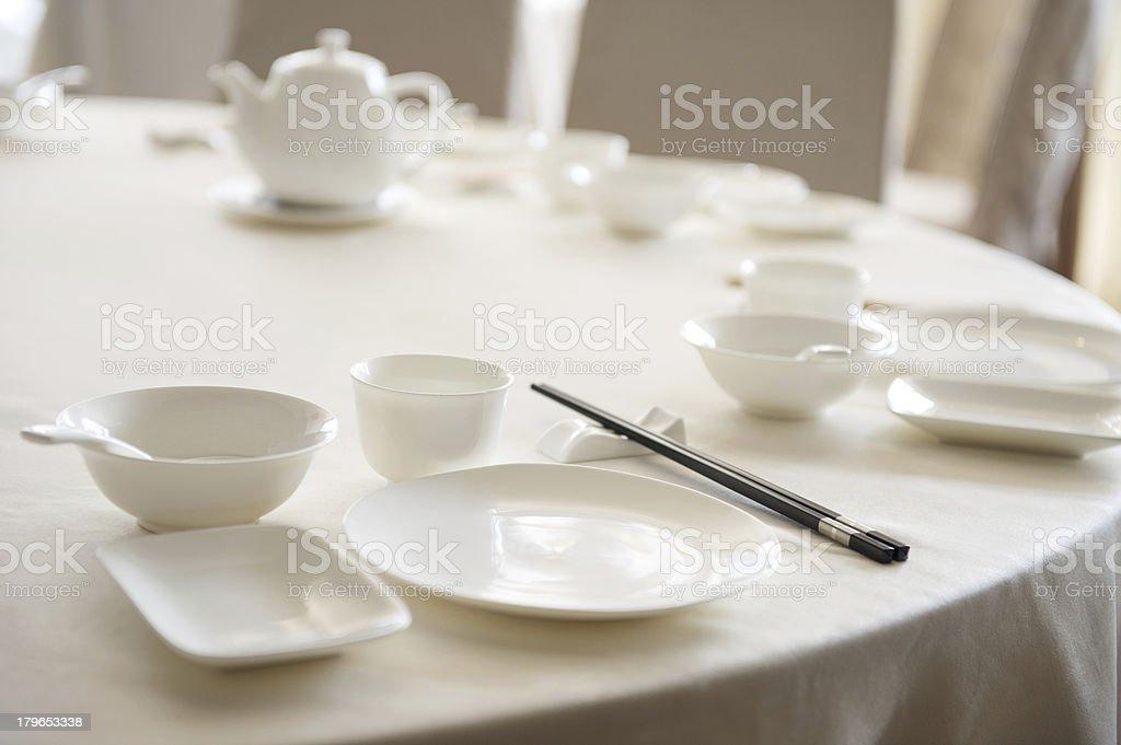 Chinese Yum Cha Table Setting royalty-free stock photo
