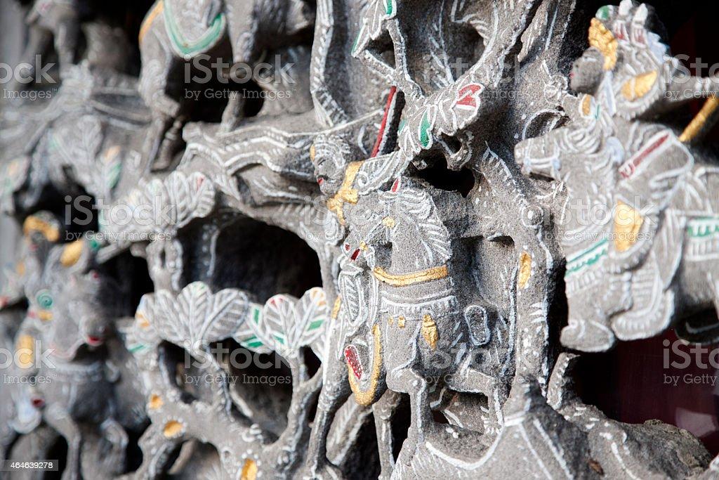 Chinese Zodiac animals, Wen Wu Temple, Sun Moon Lake, Taiwan stock photo