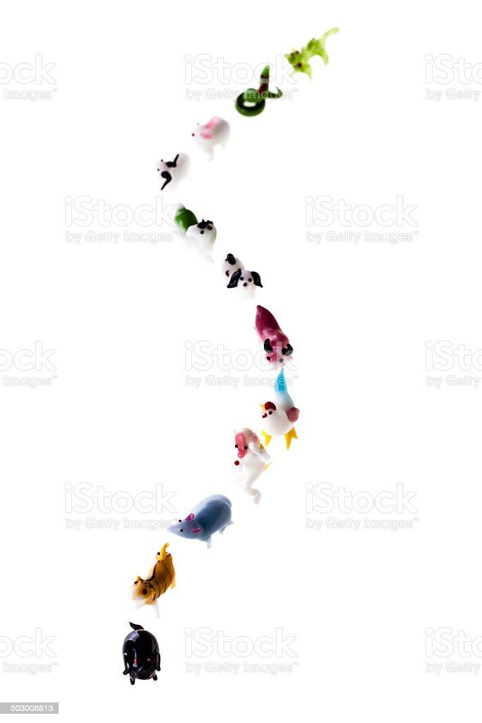 Chinese zodiac way stock photo