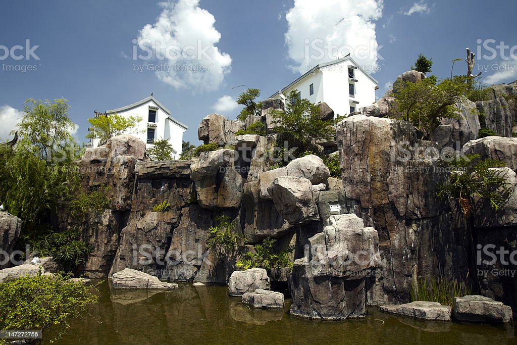 Chinese-style residential gardens royalty-free stock photo