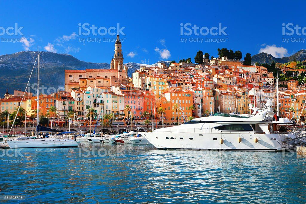 Menton,France. stock photo