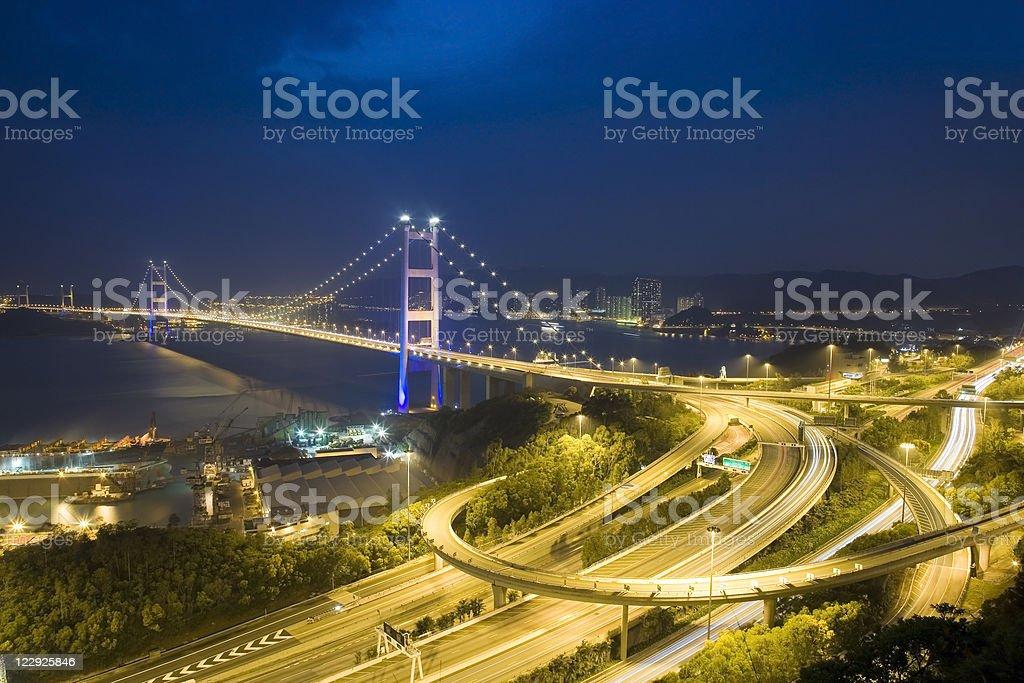 Ching Ma Bridge in Hong Kong stock photo