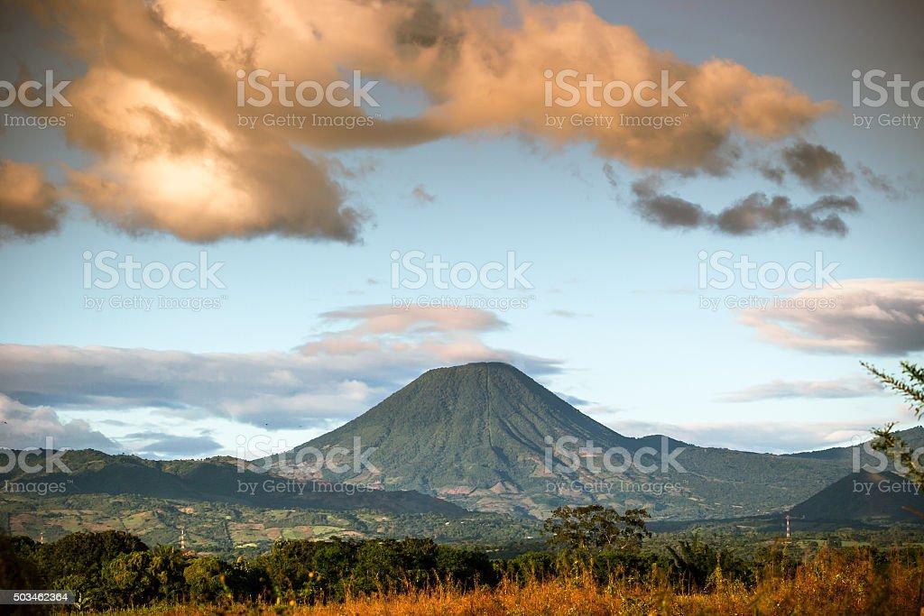 Chingo Volcano In Guatemala stock photo