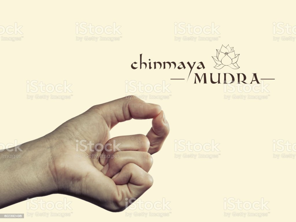 Chinmaya mudra. stock photo
