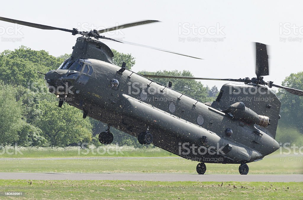 Chinook heavy-lift military transport helicopter royalty-free stock photo